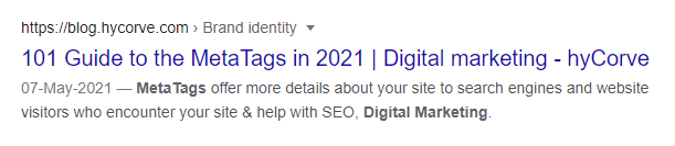 The rich snippet/rich result for the example above looks really good when Google picks up the metadata and displays it properly.
